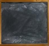 Quadro-negro em branco directamente Fotografia de Stock
