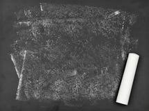 Quadro-negro impuro com giz Foto de Stock