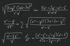 Quadro-negro matemático Imagens de Stock