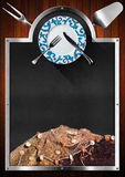 Quadro-negro para o menu do marisco Foto de Stock