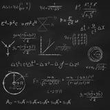 Quadro-negro quadrado com equações ilustração stock