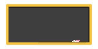 Quadro-negro vazio, a administração da escola em um projeto liso Imagens de Stock