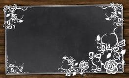 Quadro-negro vazio com trajeto de grampeamento ilustração do vetor