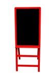 Quadro-negro vermelho Fotografia de Stock