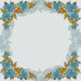 Quadro no contorno - flores e folhas Fotos de Stock