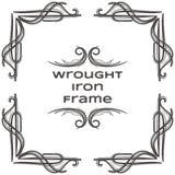Quadro nove do ferro forjado Foto de Stock