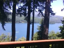 Quadro o lago Fotografia de Stock