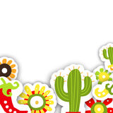 Quadro o molde para o feriado tradicional mexicano Cinco de Mayo Fotografia de Stock