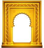Quadro oriental do ouro do estilo fotografia de stock