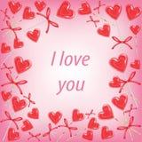 Quadro original para fotos e texto Doces do querido Um presente perfeito para o dia do Valentim s Ilustra??o do vetor ilustração stock