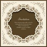 Quadro ornamentado do vintage, molde do cartão do entalhe ilustração royalty free