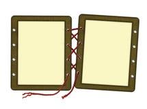 Quadro para duas fotos, laços ilustração do vetor