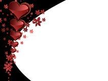 Quadro para felicitações com corações ilustração stock