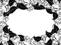 Quadro para felicitações com rosas Fotografia de Stock Royalty Free