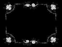 Quadro para felicitações com rosas Foto de Stock Royalty Free