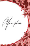Quadro para a foto com flores Foto de Stock