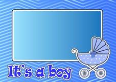 Quadro para o carrinho de criança de bebê para o menino ilustração stock
