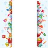 Quadro para o cartão de Natal Fotografia de Stock Royalty Free