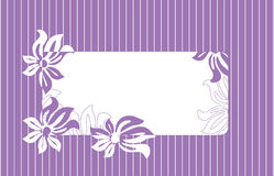 Quadro para o texto com ornamento floral Ilustração Stock