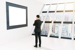 Quadro pensativo do homem de negócios Fotos de Stock