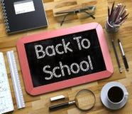 Quadro pequeno com de volta a conceito da escola 3d Foto de Stock
