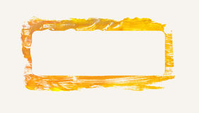 Quadro pintado amarelo Imagem de Stock