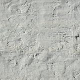 Quadro pintado e emplastrado do branco desigual retro de tijolo da parede Fotos de Stock Royalty Free