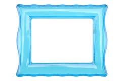 Quadro plástico transparente da cor de turquesa do vintage em um fundo branco isolado imagem de stock royalty free