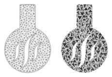 Quadro poligonal Mesh Chemical Aroma do fio e ícone do mosaico ilustração royalty free