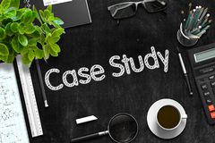 Quadro preto com conceito do estudo de caso rendição 3d ilustração do vetor