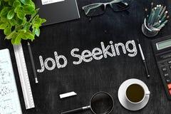 Quadro preto com Job Seeking Concept rendição 3d Imagens de Stock
