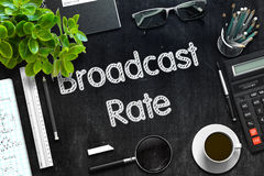 Quadro preto com taxa da transmissão rendição 3d Fotos de Stock