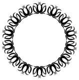 Quadro preto e branco com silhuetas das flores Fotos de Stock Royalty Free