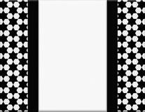 Quadro preto e branco do hexágono com fundo da fita Imagem de Stock Royalty Free
