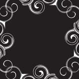 Quadro preto e branco do teste padrão Foto de Stock Royalty Free