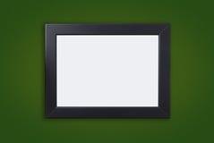 Quadro preto grosso vazio da foto no verde imagem de stock