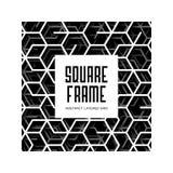 Quadro quadrado abstrato com linhas mergulhadas grade triangular e sombra ilustração stock