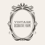 Quadro quadrado da beira do vintage do vetor com teste padrão retro do ornamento Imagens de Stock Royalty Free