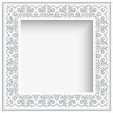Quadro quadrado do laço do Livro Branco Fotos de Stock Royalty Free
