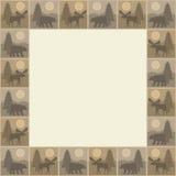 Quadro quadrado do urso e dos alces Imagem de Stock