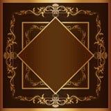 Quadro quadrado do vetor com ornamento filigrana Fotografia de Stock