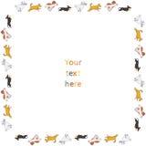 Quadro quadrado engraçado do vetor dos cães running Foto de Stock