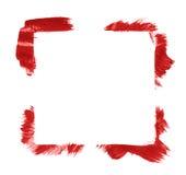 Quadro quadrado feito com cursos da escova Imagens de Stock