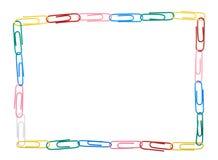 Quadro quadrado feito de clipes de papel múltiplos Foto de Stock Royalty Free