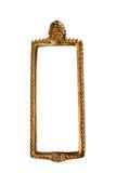 Quadro quadrado tailandês dourado do estilo isolado Imagem de Stock