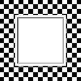 Quadro quadriculado preto e branco com fundo do quadro Imagens de Stock