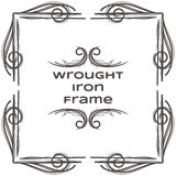 Quadro quatro do ferro forjado ilustração do vetor