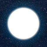 Quadro redondo branco Céu nocturno estrelado Foto de Stock Royalty Free