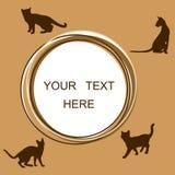 Quadro redondo com gatos Foto de Stock