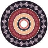 Quadro redondo com teste padrão tribal Fotos de Stock Royalty Free